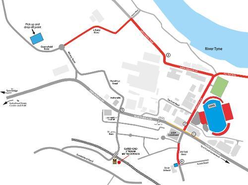 Little Mix road closures map